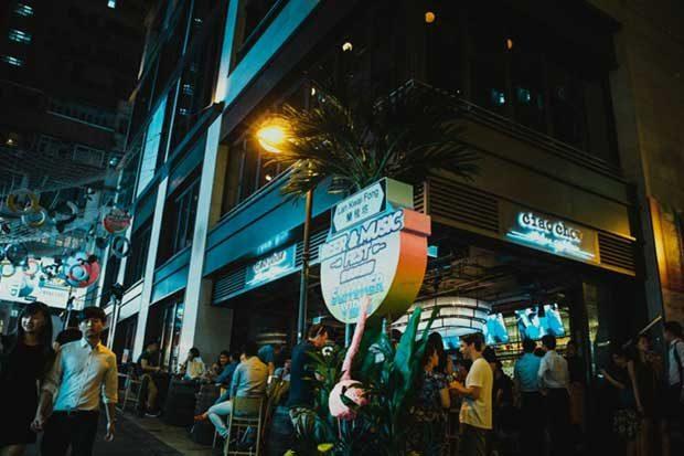 蘭桂坊的香港仔